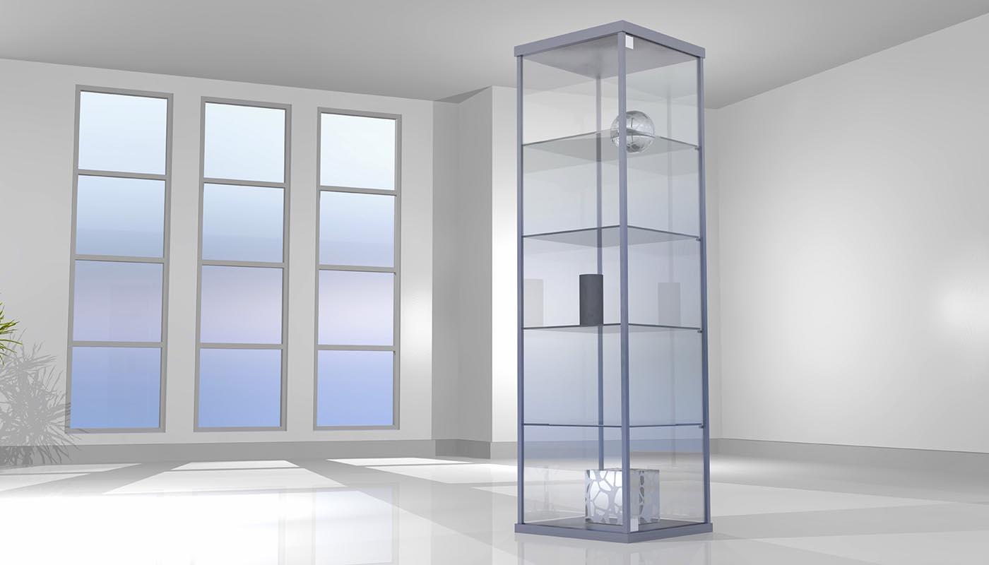 vitrinekasten glas smalle vitrinekast